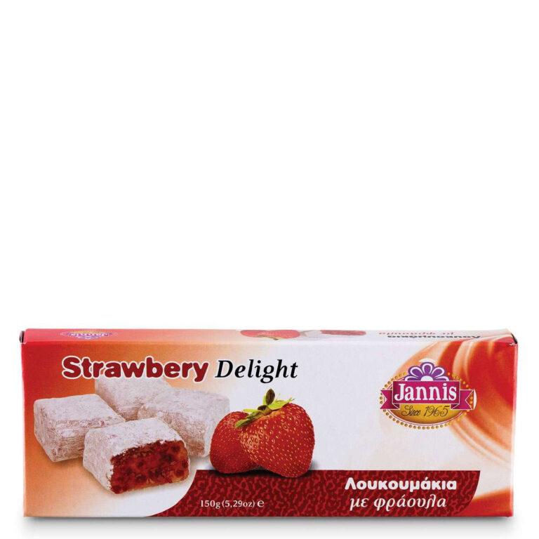 Λουκούμια με φράουλα 150g