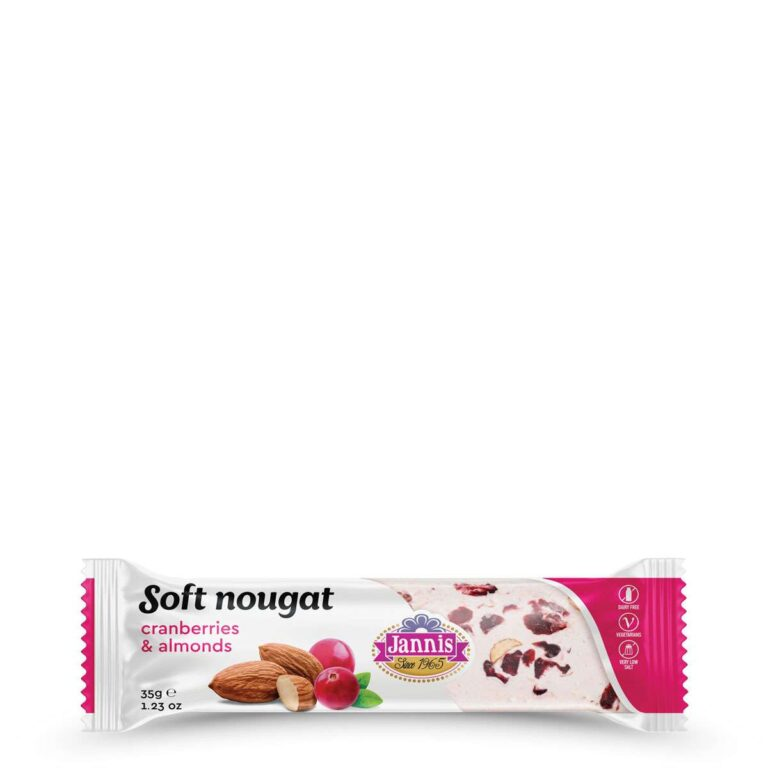 Soft Nougat with Cranberries & Almonds 35g