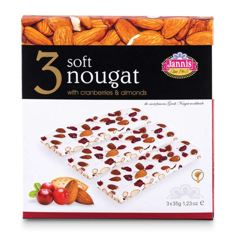 3 Soft Nougat with Cranberries and Almonds 105g