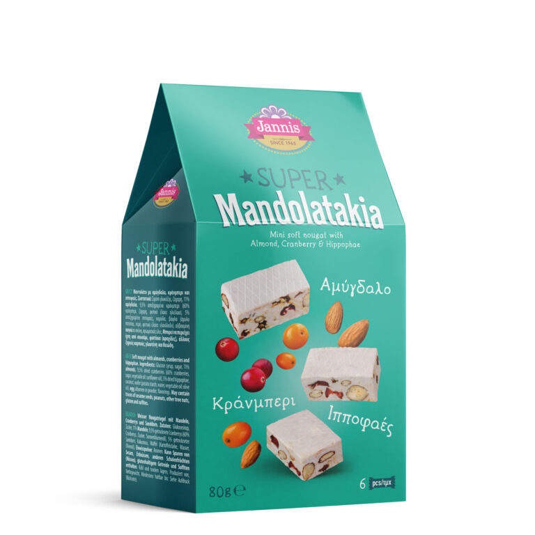 Mini soft nougat with Almond, Cranberry & Hippophae 80g